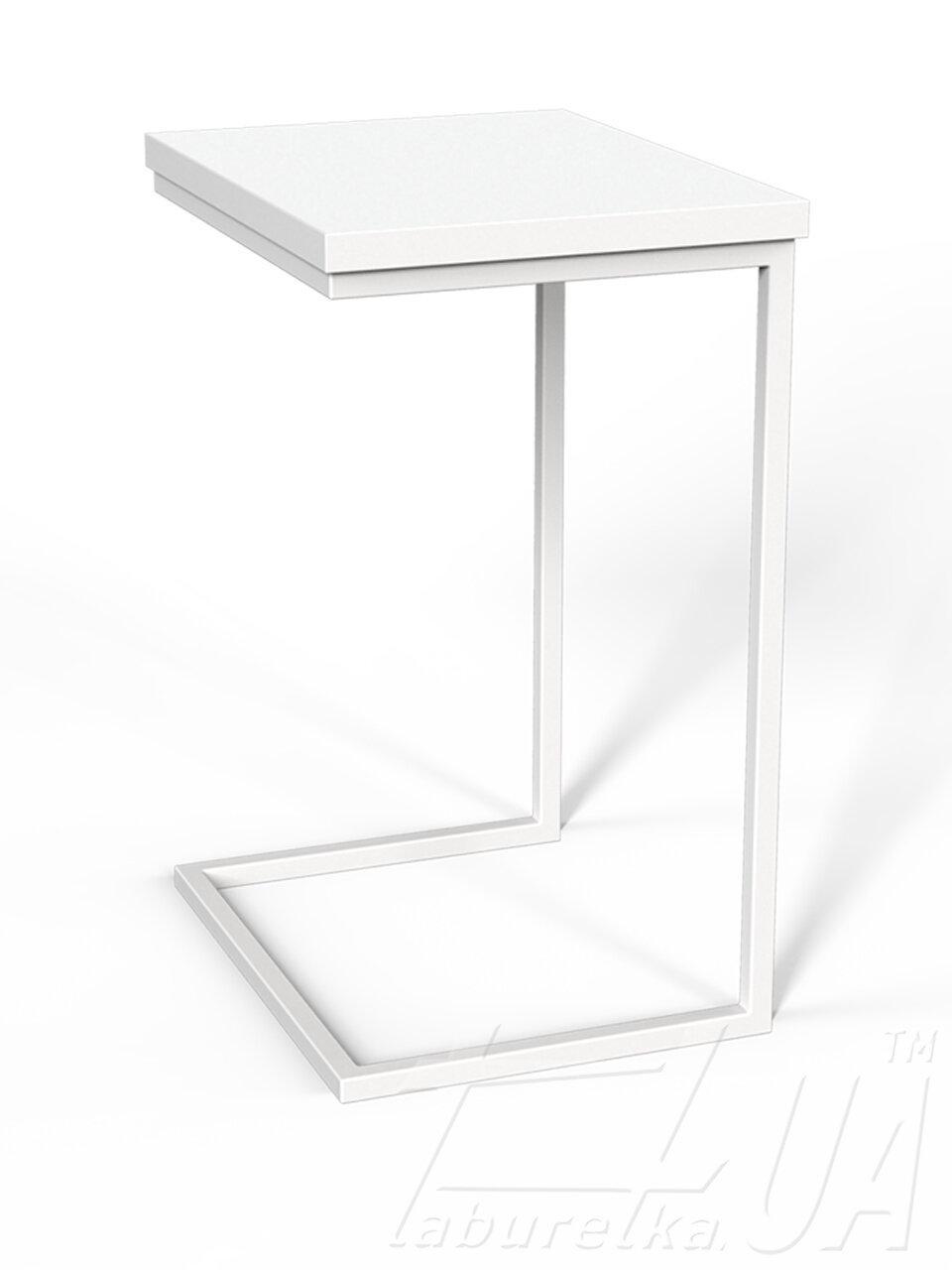 """Приставний Столик """"Фіджі"""" 46х36х63 см. Білий/Білий"""