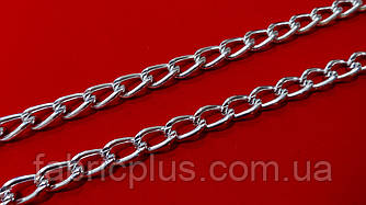 Цепь  декоративная  13*8 мм  никель
