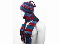 Удобный зимний комплект 2 в 1 шапка-шарф Ручная вязка в ассортименте