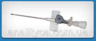 Катетер(канюля) внутрішньовенний ULTRAFLON c ін'єкційним портом, стерильний, 16G, 100 шт/упаковка