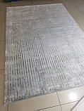 Сірий сучасний килим з геометричним малюнком, фото 4