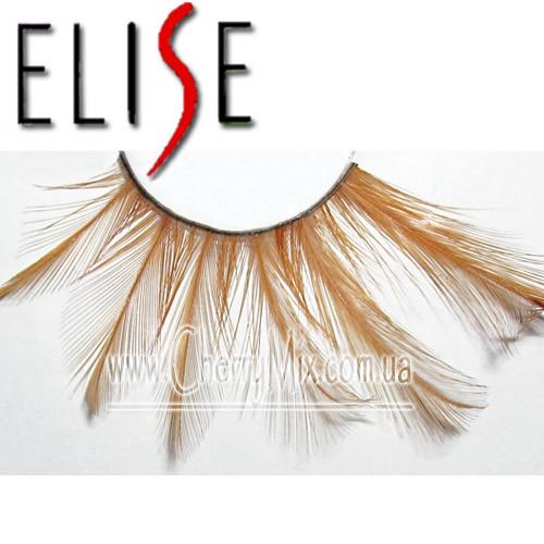 Коричневые длинные перьевые ресницы Elise #405