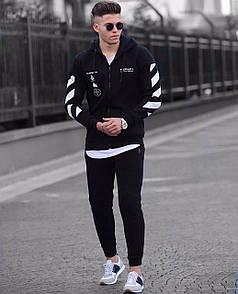Чоловічий спортивний костюм в чорному кольорі
