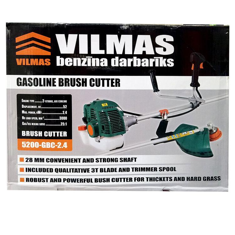 Бензокоса Vilmas 5200-GBC-2.4 (1 шпуля, 1 нож, 28 мм штанга, легкий старт, 52см3)