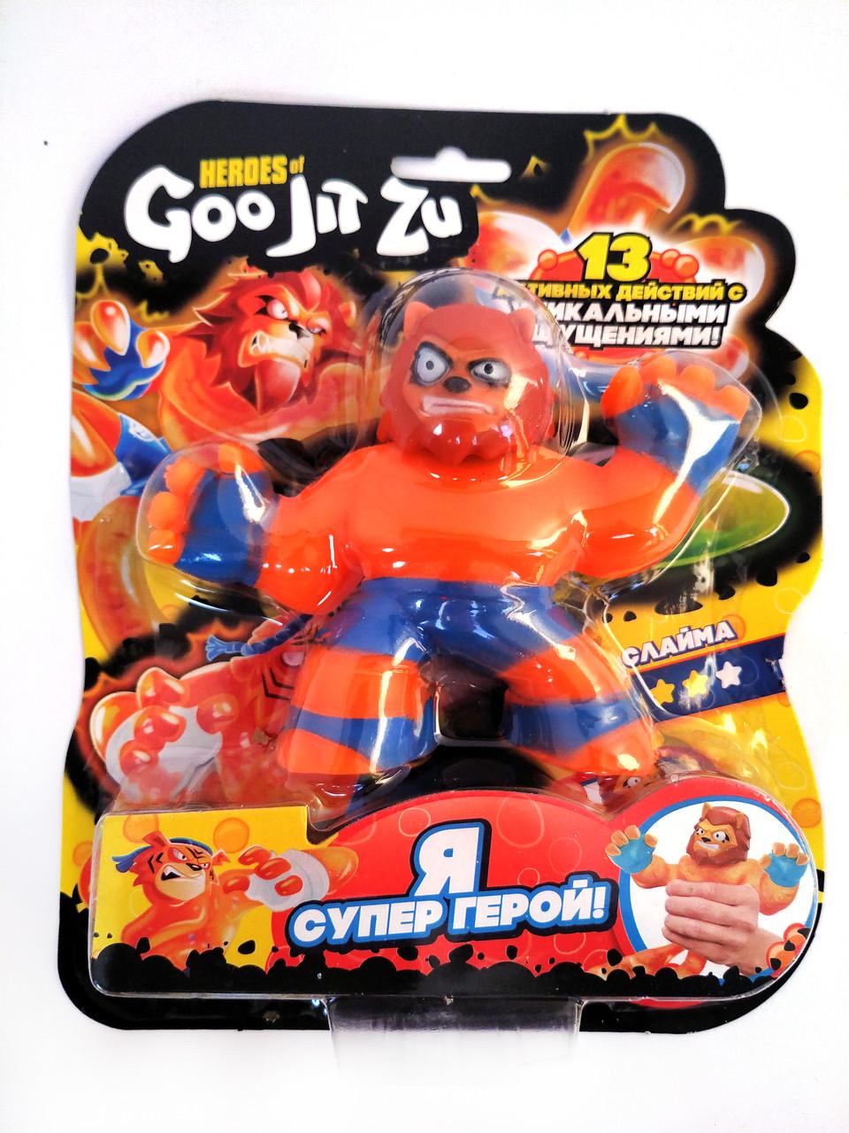 Стретч-антистресс Goo Jit Zu игрушка тянучка Гуджистсу супергерой Сахарио