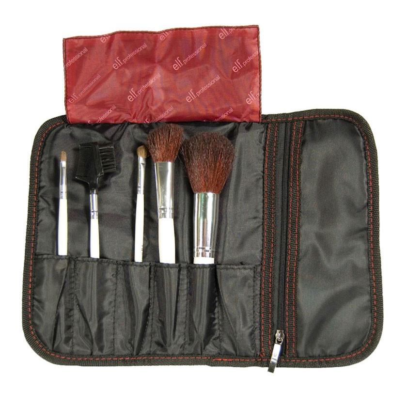 Набор из 5 кистей в чехле e.l.f. Essential Professional 5 pc. Brush Set