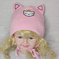 Шапка для девочки с ушками котик демисезонная Размер 42-44 см, фото 7