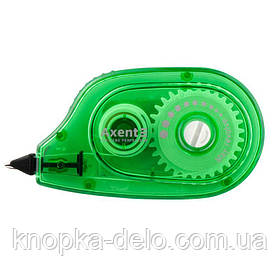 Корректор ленточный с аппликатором 7009-04-А , Ширина ленты 5 мм. Длина 6 м. Цвет корпуса зеленый