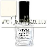 БЕСПЛАТНО ПРИ ЗАКАЗЕ ОТ 700 грн!  Стойкое глянцевое покрытие для лака NYX Salon Formula High Gloss Top Coat