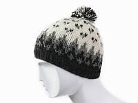 Теплая зимняя шапка с помпоном в ассортименте