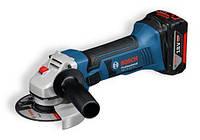 Аккумуляторная угловая шлифовальная машина Bosch GWS 18-125 V-LI Professional (060193A30B), фото 1
