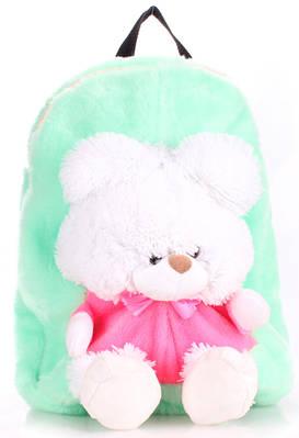Рюкзак детский с Мишкой Poolparty backpack-teddybear-green