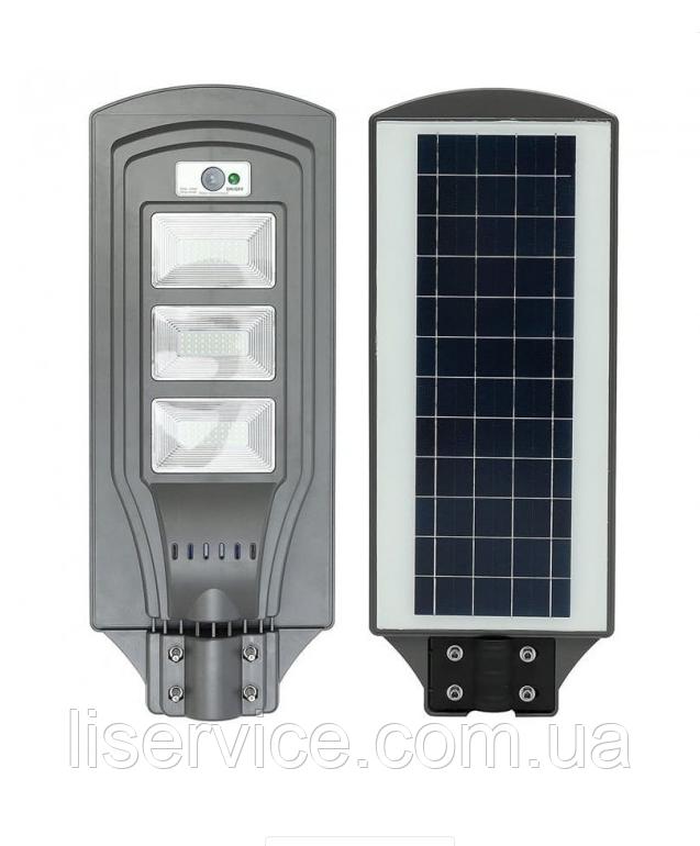 LED уличный светильник на солнечной батарее UNILITE 60W 6500К (VS-109547)светильник на солнечной батарее