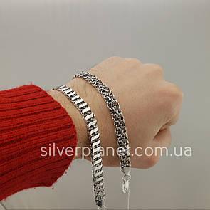 Браслет из серебра для мужчины длина 20,5 см. ширина 8 мм
