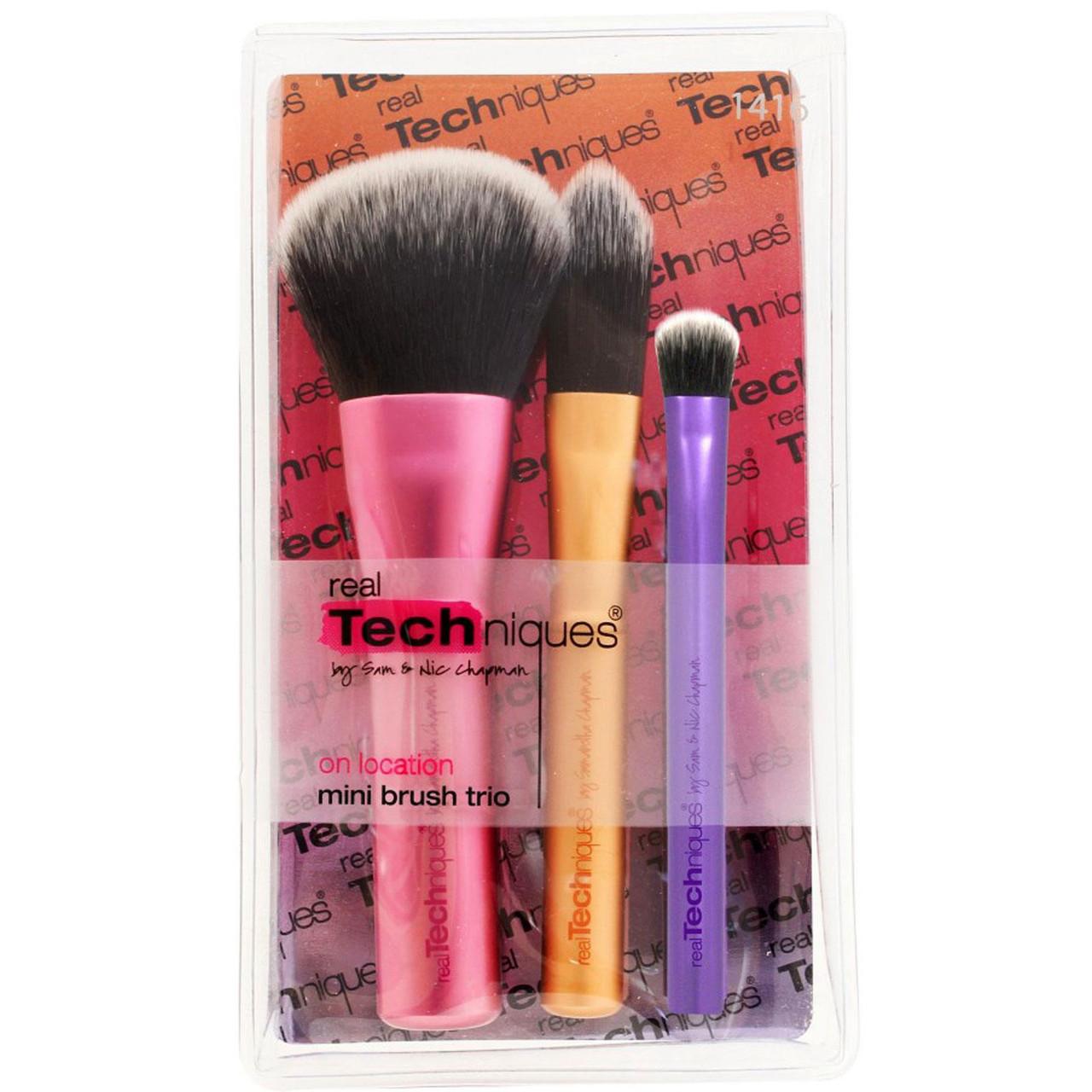 Мини - набор из 3 кистей REAL TECHNIQUES Mini Makeup Brush Trio