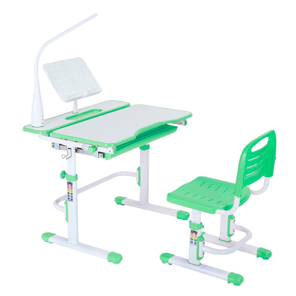Эргономический комплект Cubby парта и стул-трансформеры Botero Green