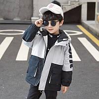 Детская куртка для мальчика, осень/весна, размеры: 110, 150, 160