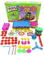 Уникальный развивающий 3D конструктор с шестеренками Funny Bricks 81 деталь для развития ребенка