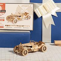 3D-пазл конструктор Robotime деревянный «Grand Prix Car» машина