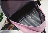 Оригинальный розовый рюкзак с пушком, фото 3