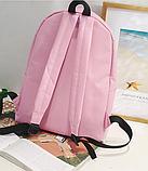 Оригинальный розовый рюкзак с пушком, фото 4