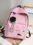 Оригинальный розовый рюкзак с пушком, фото 7