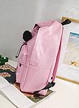 Оригинальный розовый рюкзак с пушком, фото 8