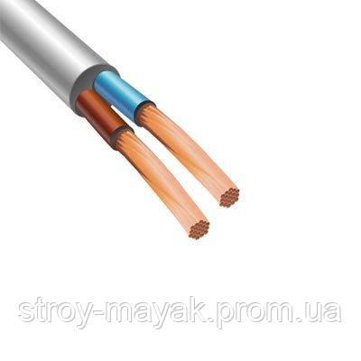 Провод соединительный ПВС 2х1,5 белый ЗЗЦМ круглый