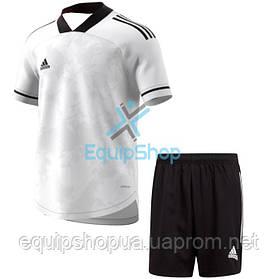 Футбольная форма Adidas  CONDIVO 20 бело-черная