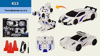 Робот 2 в 1 аккум.р|у K13 (8шт|2) свет,звук,в коробке 44,5*10*33см, р-р игрушки – 23*10.5*6.5 см