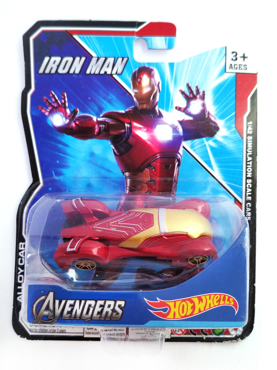 Машинка Hot Wheels Avengers Iron Man Хост Вилс Мстители Железный человек