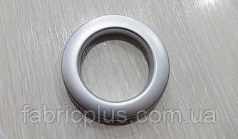 Люверсы пластик  6,2*4,2 см цвет серебро матовые