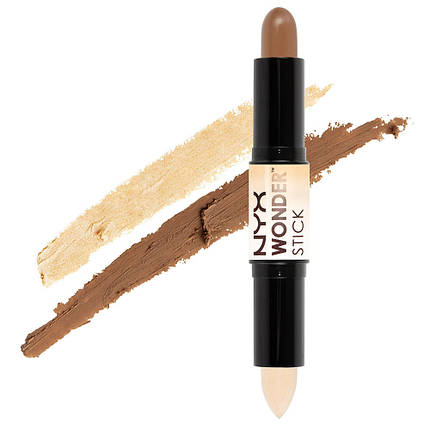 Хайлайтер и контур в стике NYX Wonder Stick - Light / Medium, фото 2