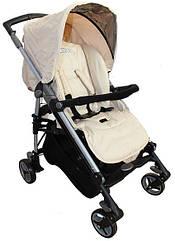 Коляска прогулочная Carita BabyLux beige (бежевый)