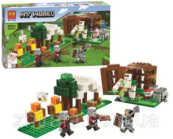 Конструктор Майнкрафт Minecraft Захист села Аванпост розбійників 321 дет