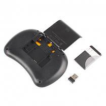 Бездротова клавіатура з тачпадом і підсвічуванням, міні пульт (аэромышь) для Smart TV, MINI KEYBOARD I8 LED, фото 3