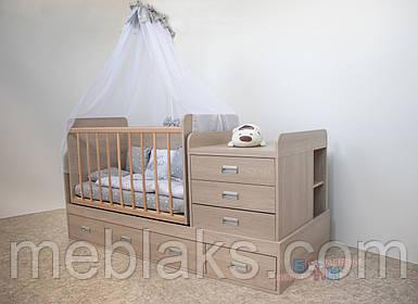 Детская кроватка-трансформер Диана Бони Мебель