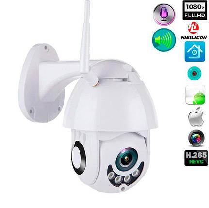 Зовнішня камера відеоспостереження IP Wi-Fi camera (1080p, нічна зйомка, датчик руху, вологозахист IP66), фото 2