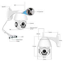 Зовнішня камера відеоспостереження IP Wi-Fi camera (1080p, нічна зйомка, датчик руху, вологозахист IP66), фото 3