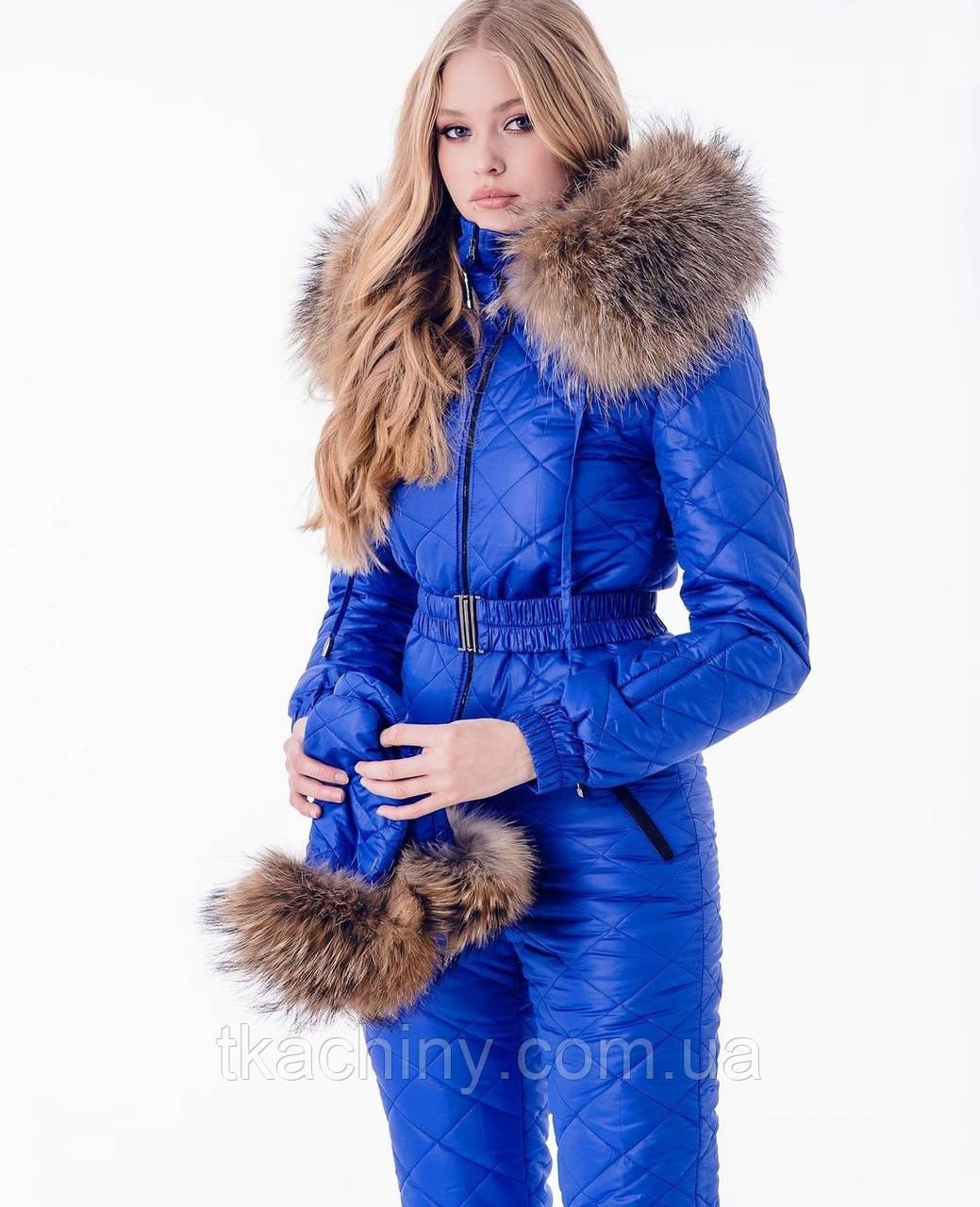 Лижний зимовий комбінезон жіночий синій