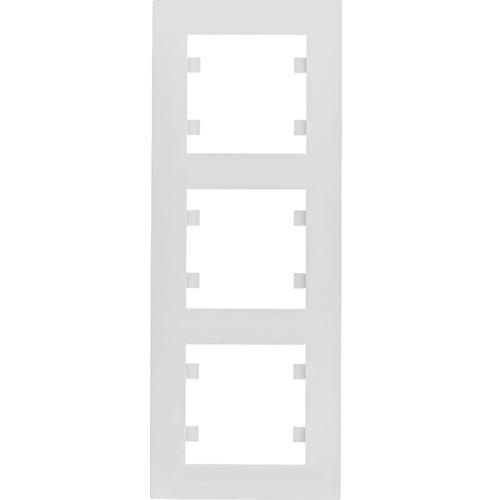 Рамка 3 пост. вертикальная Hager Lumina intense Белый