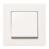 Рамка 4 пост. вертикальна Hager Lumina intense Білий, фото 2