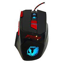 Ігрова комп'ютерна миша USB, RGB підсвіткою jedel gm-625 чорна, геймерська, дротова для комп'ютера, фото 3