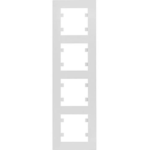 Рамка 4 пост. вертикальна Hager Lumina intense Білий