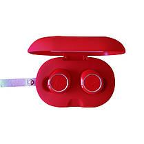 Бездротові Bluetooth-навушники GORSUN GS V7 red червоні, бездротові блютуз навушники TWS, фото 3