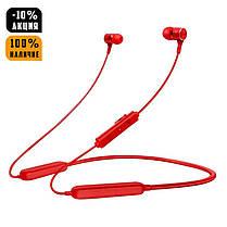 Беспроводные Bluetooth наушники Gorsun GS-E18A вакуумные спортивные красные, фото 2