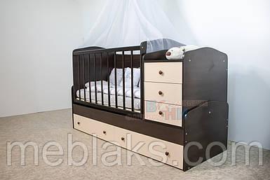 Детская кроватка-трансформер Дрим Бони Мебель