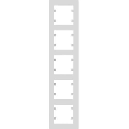 Рамка 5 пост. вертикальная Hager Lumina intense Белый
