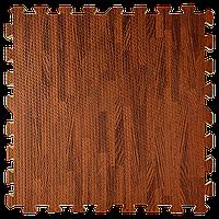 Коврик-пазл мягкий пол Дерево Яблоня 600*600*10 мм ЭВА EVA панели-пазлы модульное напольное покрытие, фото 1