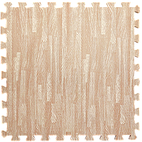 Коврик-пазл мягкий пол Розовое дерево 6 шт. 600*600*10 мм ЭВА EVA панели-пазлы модульное напольное покрытие, фото 1